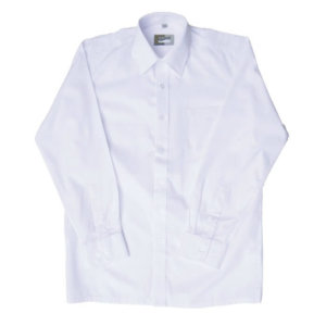 Zeco White School Shirt long sleeve